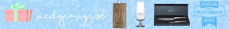 Köp personliga presentartiklar hos Medgravyr. Flera av produkterna går att förse med valfri gravyrtext.